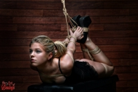 Hogtie - Tied up girl - Rope harness - Fine Art of Bondage