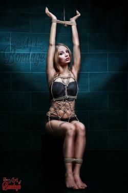 Tied up girl - rope artwork - Fine Art of Bondage