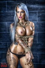 Topless tied up, Vanessa Louis - Fine Art of Bondage