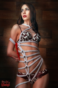 Bound with white Rope - Fine Art of Bondage