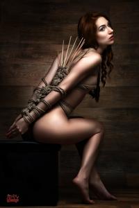 Dragonfly Knot with Bamboo Sticks - Fine Art of Bondage