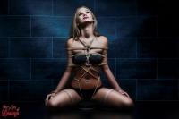 Tied up girl - Rope harness - Fine Art of Bondage