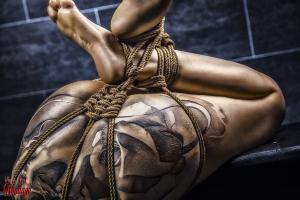 Tattoo Girl, Nude Close Up - Fine Art of Bondage