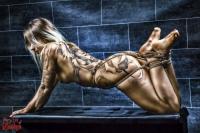Tattoo Girl, Nude, Tied Legs - Fine Art of Bondage