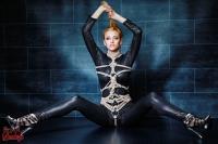Tied in black Catsuit - Fine Art of Bondage