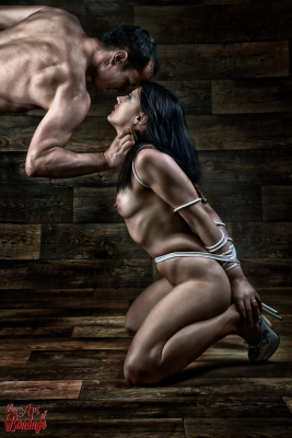 Tied nude submission and domination - Fine Art of Bondage