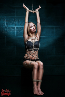 Tied up girl - rope artwork - Fine Art of Bondage