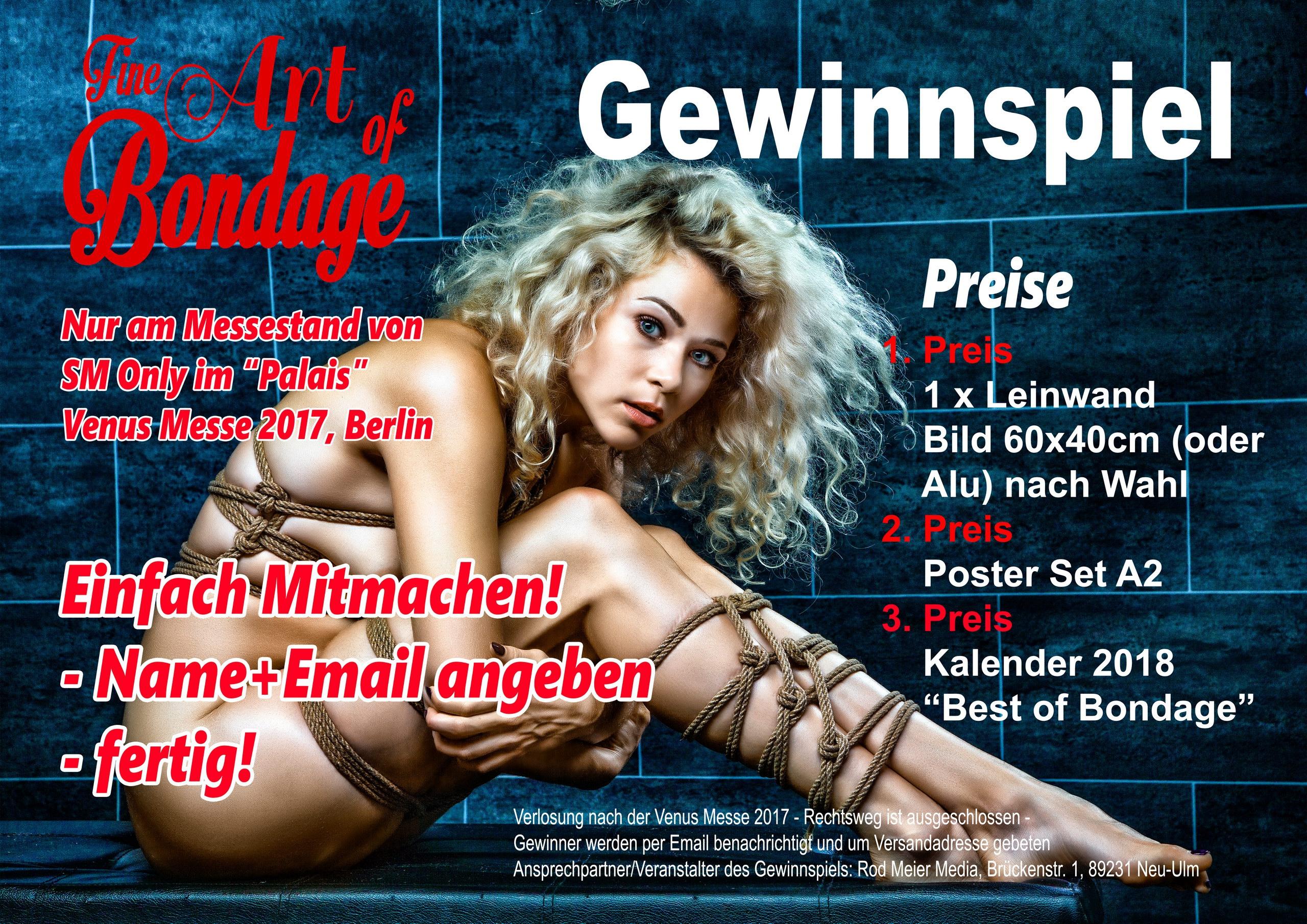 Gewinnspiel - Fine Art of Bondage - Venus Messe Berlin
