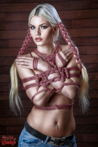 4461 Hairbondage - 2 rope braids