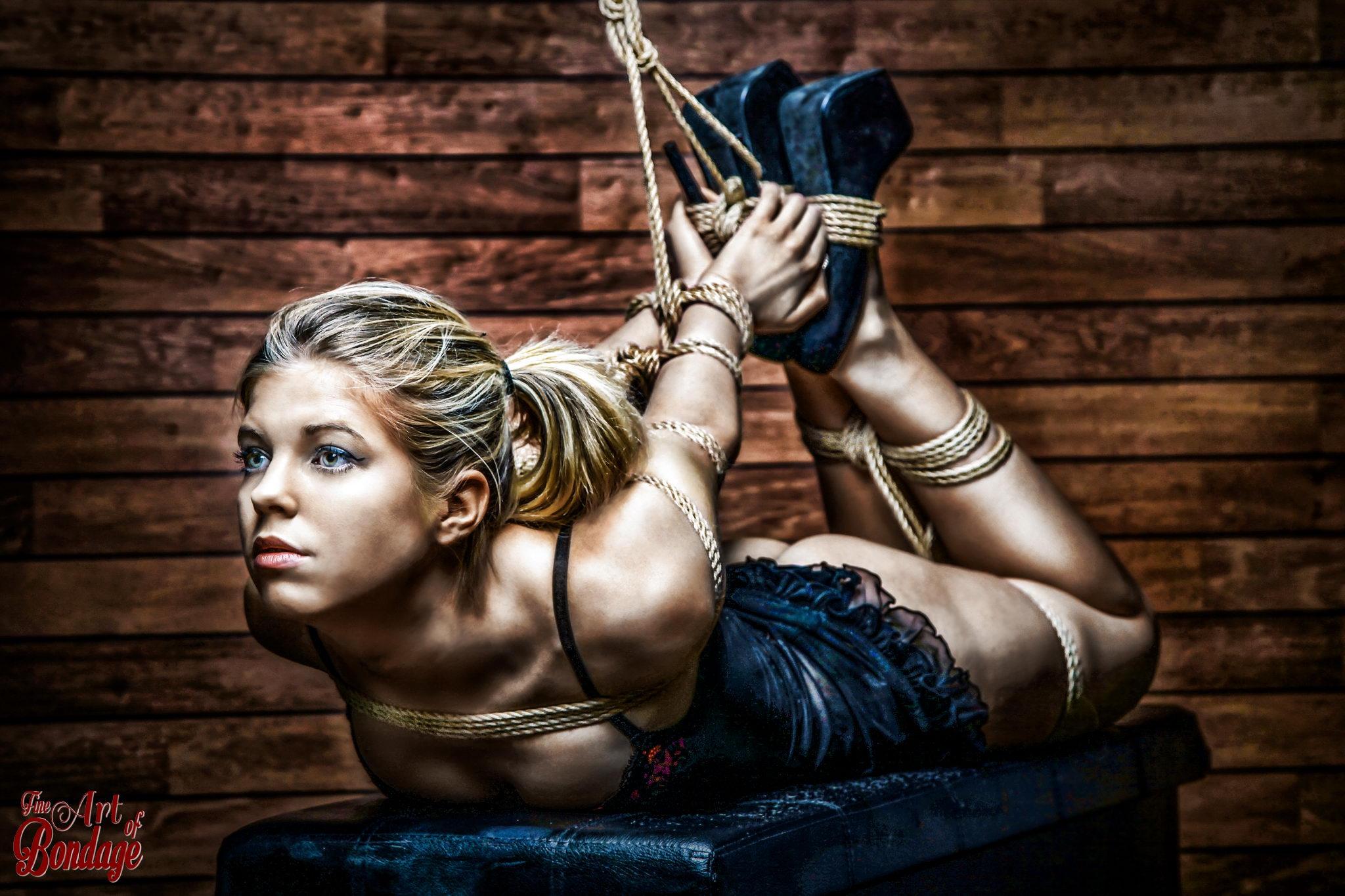 4624 - Hogtie - Tied up girl