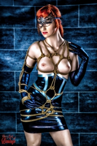 7720 - Latex Skirt and Mask