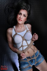 Big Handcuffs and Rope Harness - Fine Art of Bondage